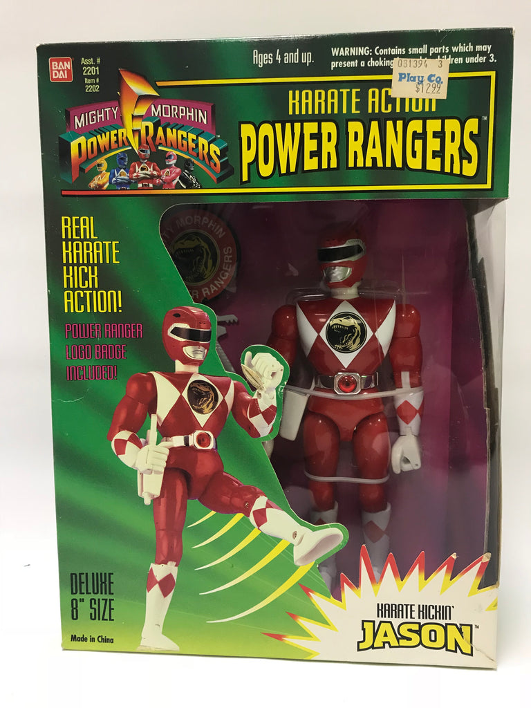 1994 Bandai Power Rangers Karate Action Jason Red Ranger MISB SEALED