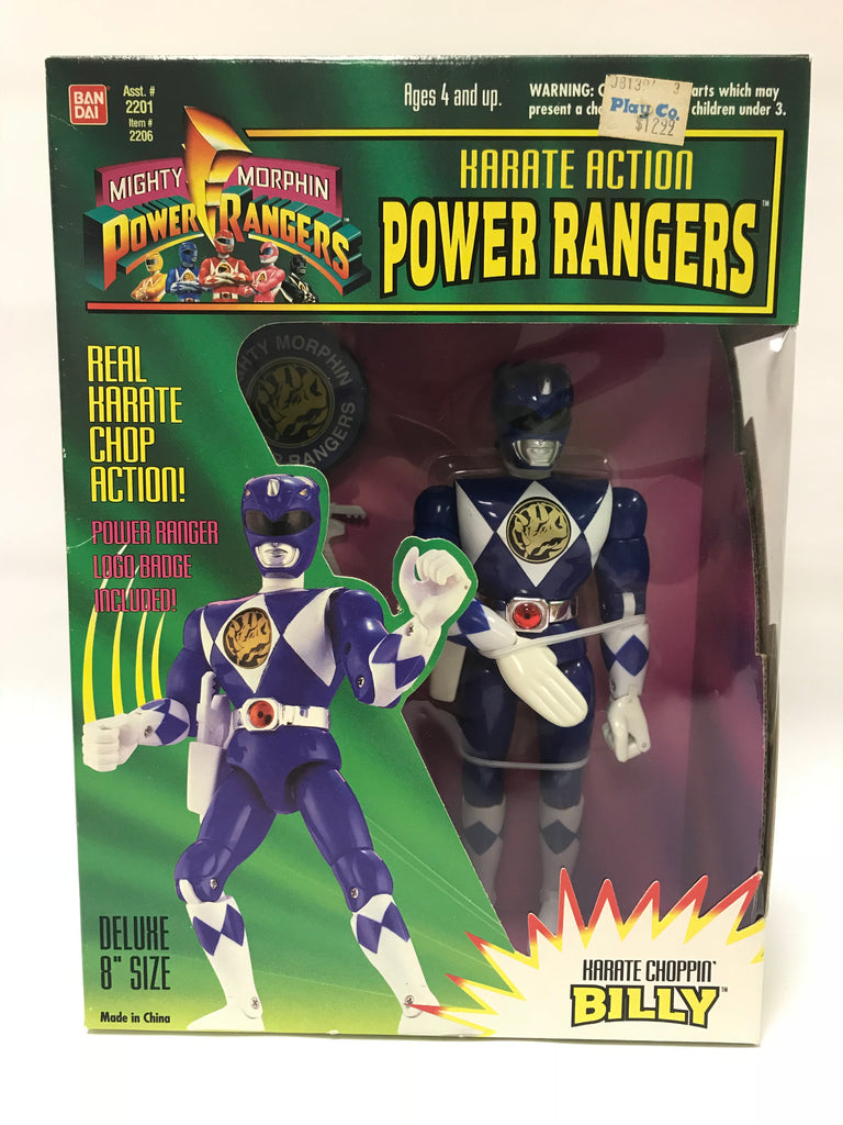 1994 Bandai Power Rangers Karate Action Billy The Blue Ranger MISB SEALED