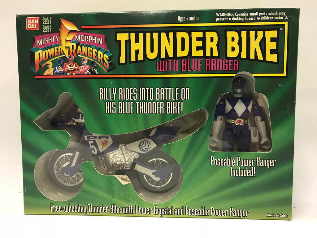 1994 Bandai Power Rangers Thunder Bike With Black Ranger MISB SEALED