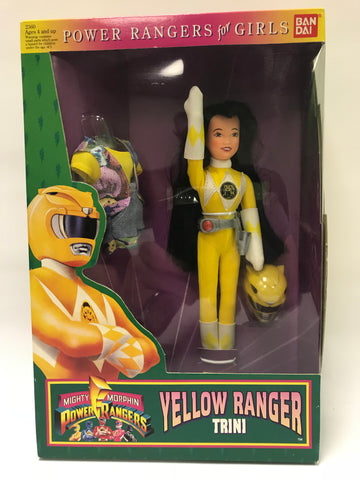 1994 Bandai Power Rangers Girls Yellow Ranger Trini Doll MISB SEALED