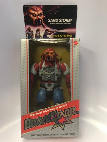 1986 Mattel Marshal Bravestarr Sand Storm Vapor Spray Action Sealed Unopen Box