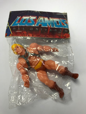 "1982 Mattel He-Man & The Masters of the Universe Mexican Bootleg Knock Off KO ""Los Amos Del Universo"" Loose In Bag"