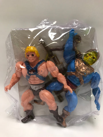 Vintage He-Man and the Masters of the Universe MOTU Los Amos De Universo Mexican Bootleg He-Man & Skeletor