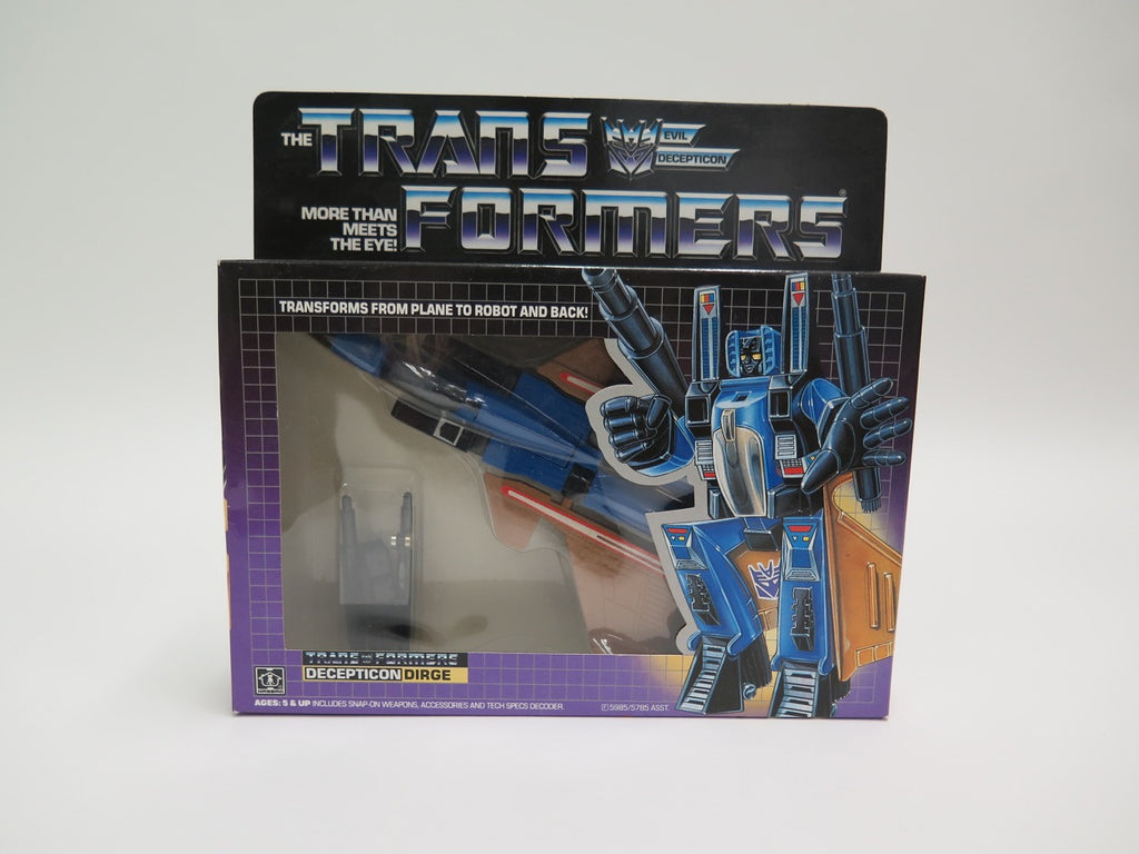 1985 Hasbro Transformers G1 Decepticon Dirge MISB Sealed