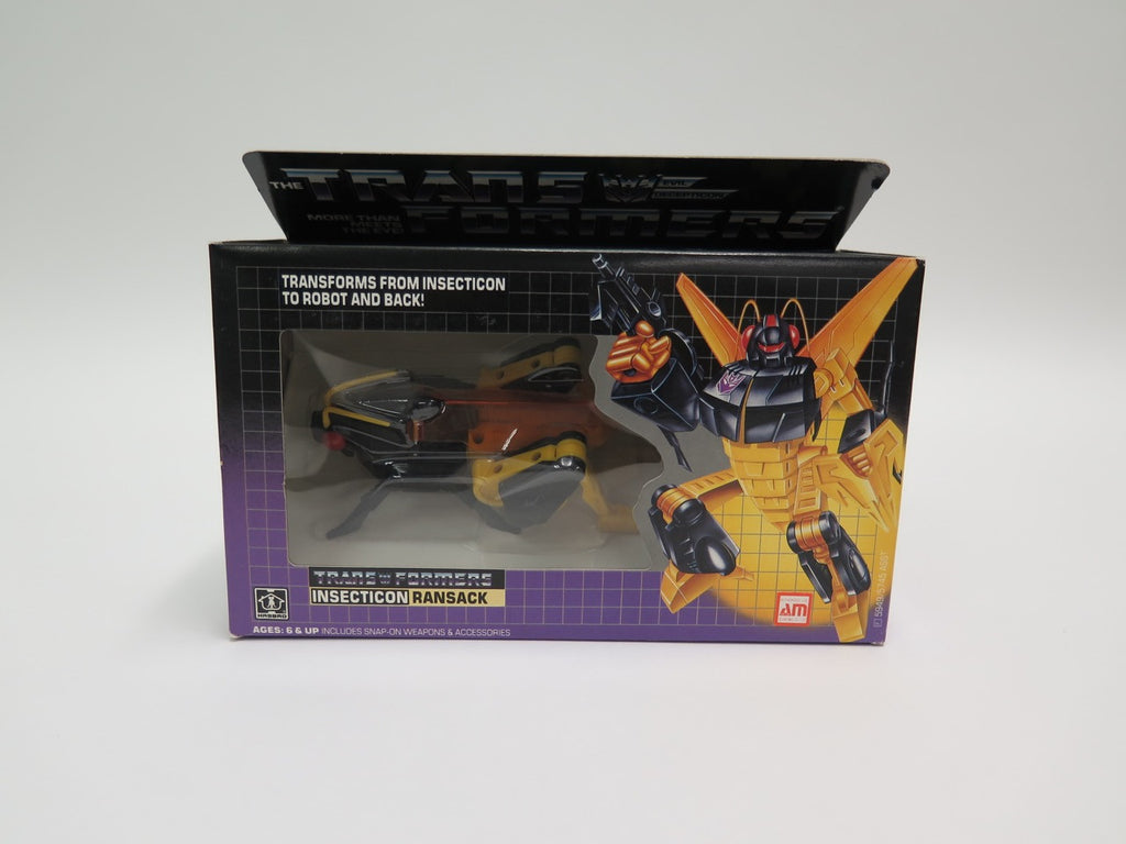 1985 Hasbro Transformers G1 Insecticon Ransack MISB Sealed