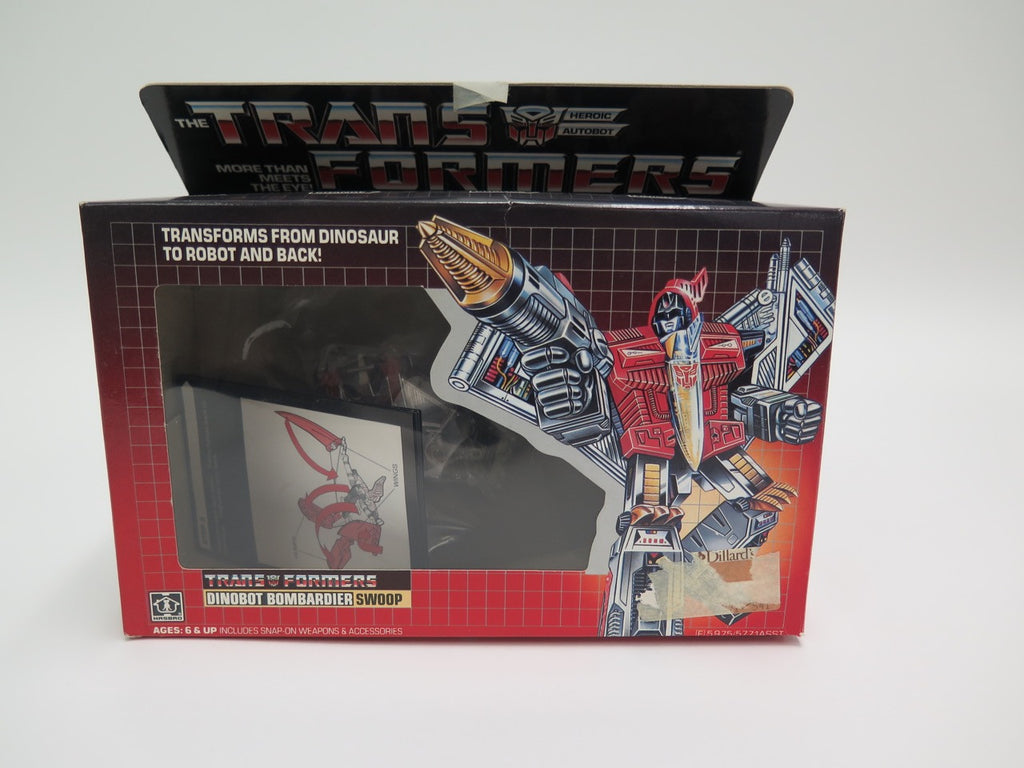 1984 Hasbro Transformers Dinobot Swoop Not Complete Boxed