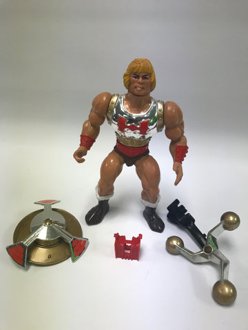 1985 Mattel He-Man & The Masters of the Universe Flying Fist He-Man Loose Complete