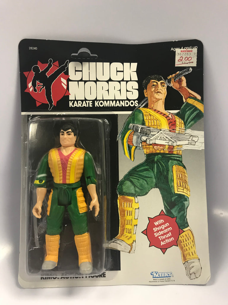 1986 Kenner Chuck Norris: Karate Kommandos Kimo Action Figure MOC Sealed