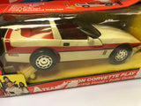 "Vintage Galoob A-team Action Corvette Play Set With ""Face"" 1983 New In Open Box"
