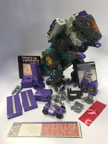 1986 Hasbro Takara G1 Transformers Decepticon Base Trypticon Loose 100% Complete