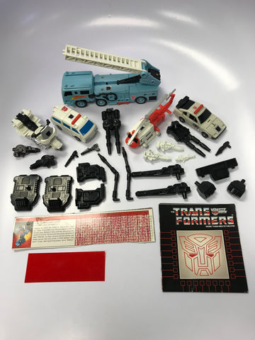 1986 Hasbro Takara G1 Transformers Protectobot Combiner Defensor Loose 100% Complete