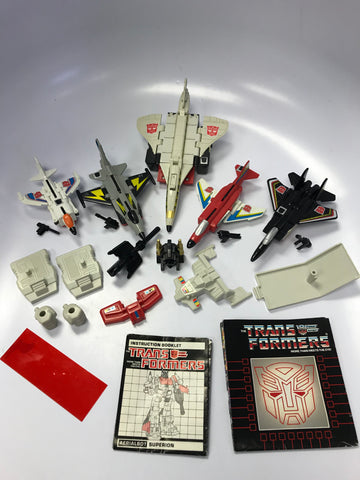 1985 Hasbro Takara G1 Transformers Aerialbots Combiner Superion Loose 100% Complete