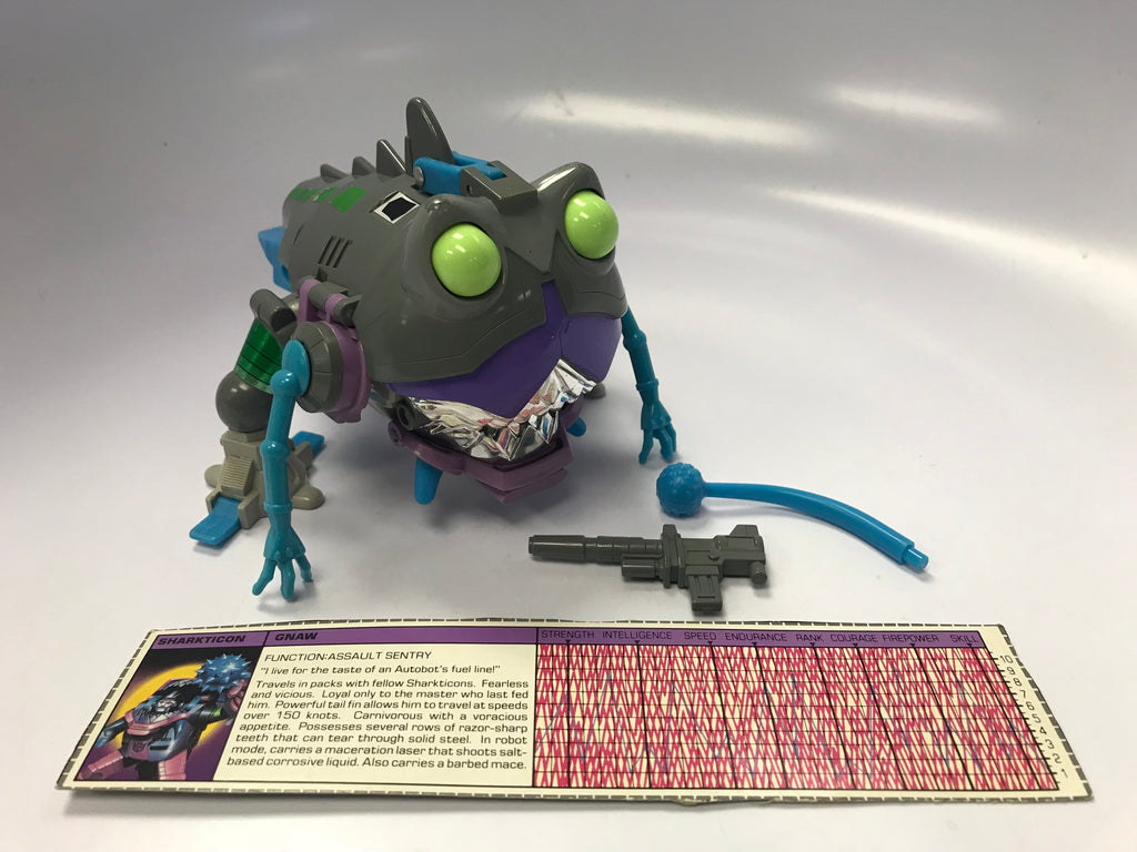 1985 Hasbro Takara G1 Transformers Sharkticon Gnaw Loose 100% Complete
