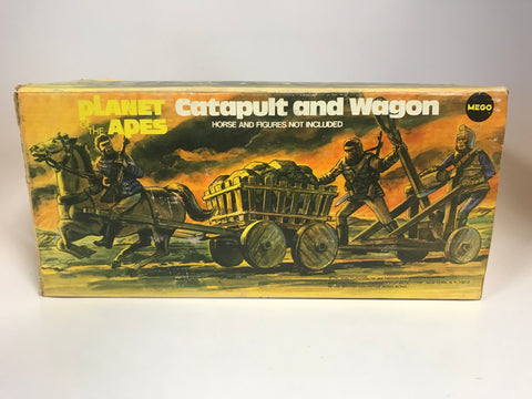 1974 Vintage Mego Planet of the Apes Catapult and Wagon Complete In Original Box