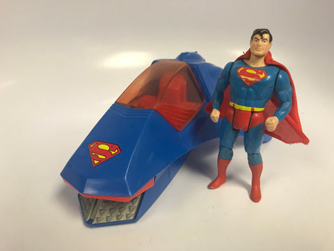 1984 Kenner Super Powers Superman and Supermobile Loose Not Complete