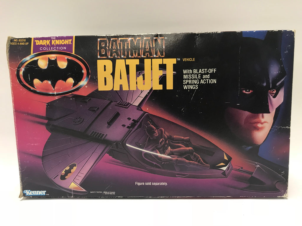 Kenner Batman: The Dark Knight Collection Tim Burton's Batman Movie Batjet Complete In Box