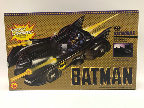 1989 Toy Biz Tim Burton's Batman Movie Batmobile Car Vehicle Complete In Box
