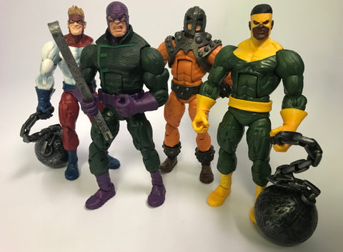 Hasbro Marvel Legends The Wrecking Crew Loose Complete Crowbar Thunderball Wrecker Piledriver Bulldozer