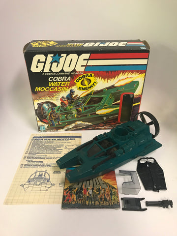 1985 Vintage Hasbro GI Joe Cobra Water Moccasin Complete in Box With Paperwork