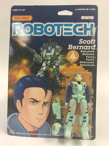 1985 Matchbox Robotech Scott Bernard MOC SEALED UNOPENED