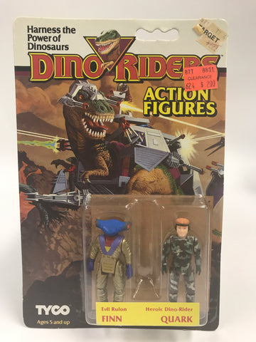 Tyco Dino-Riders Action Figures Evil Rulon FINN & Heroic Dino-Rider QUARK MOC Unopened