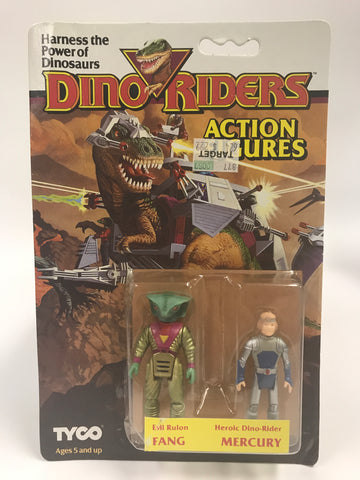 Tyco Dino-Riders Action Figures Evil Ruler FANG & Heroic Dino-Rider MERCURY MOC Unopened