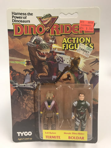 Tyco Dino-Riders Action Figures Evil Ruler TERMITE & Heroic Dino-Rider BOLDAR MOC Unopened