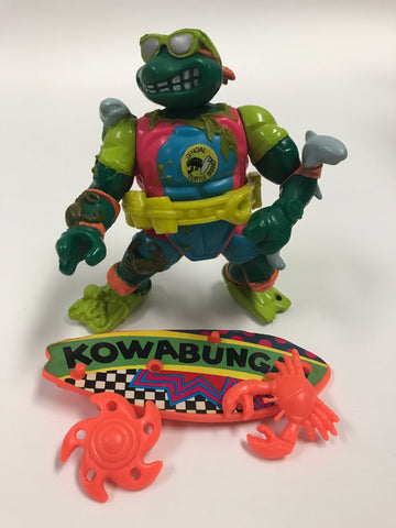 Playmates Teenage Mutant Ninja Turtles TMNT Mike The Sewer Surfer Loose Complete