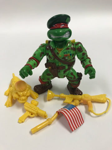 Playmates Teenage Mutant Ninja Turtles TMNT Raph The Green Teen Beret Loose Complete