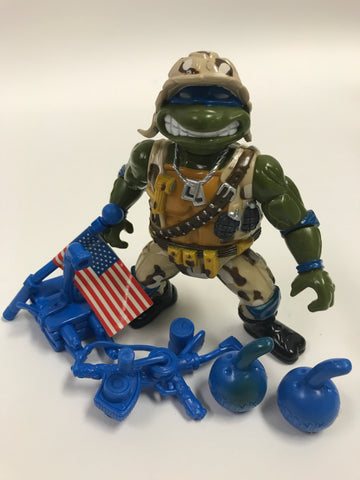 Playmates Teenage Mutant Ninja Turtles TMNT Lieutenant Leo Loose Complete