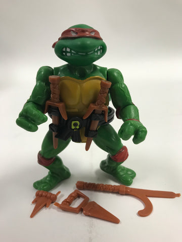 Playmates Teenage Mutant Ninja Turtles TMNT Soft Head Raphael Raph Loose Complete
