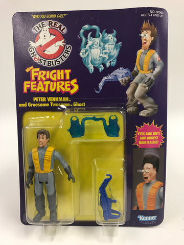 1986 Kenner The Real Ghostbusters Fright Features Peter Venkman SEALED MOC UNOPEN