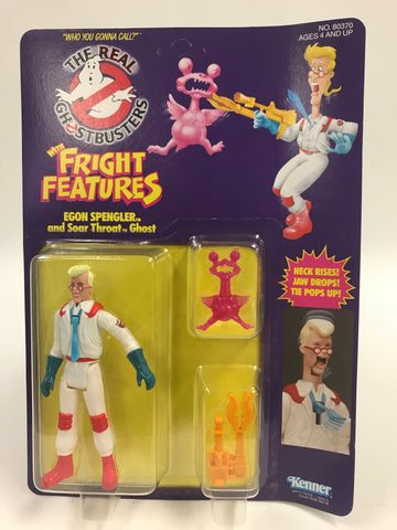 1986 Kenner The Real Ghostbusters Fright Features Egon Spengler SEALED MOC UNOPEN