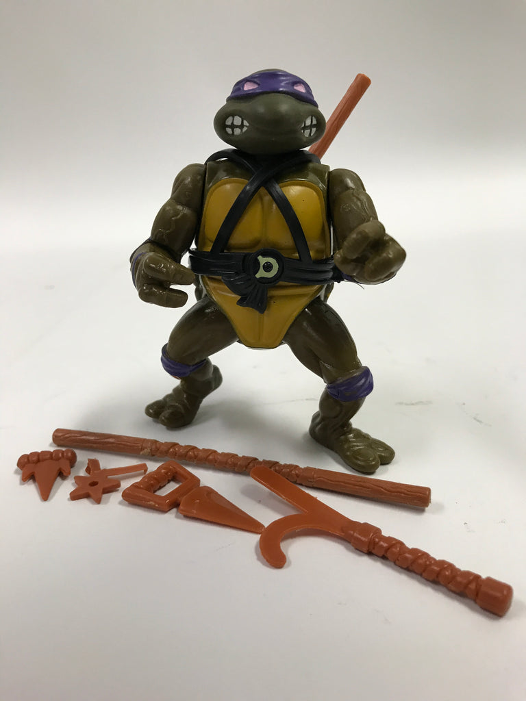 Playmates Teenage Mutant Ninja Turtles TMNT Soft Head Donatello Loose Complete