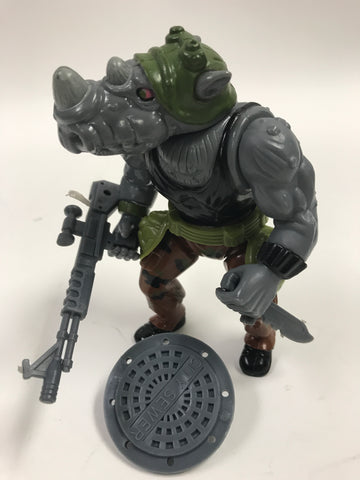 Playmates Teenage Mutant Ninja Turtles TMNT Rocksteady Loose Complete