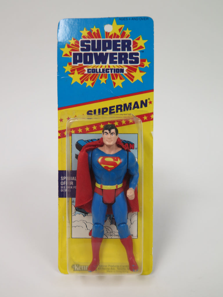 DC Comics Kenner Super Powers Superman (Short Promo Card)