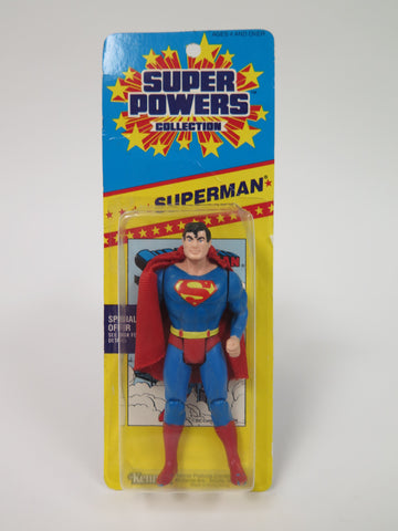 DC Comics Kenner Super Powers Superman (Short Promo Card) MOC
