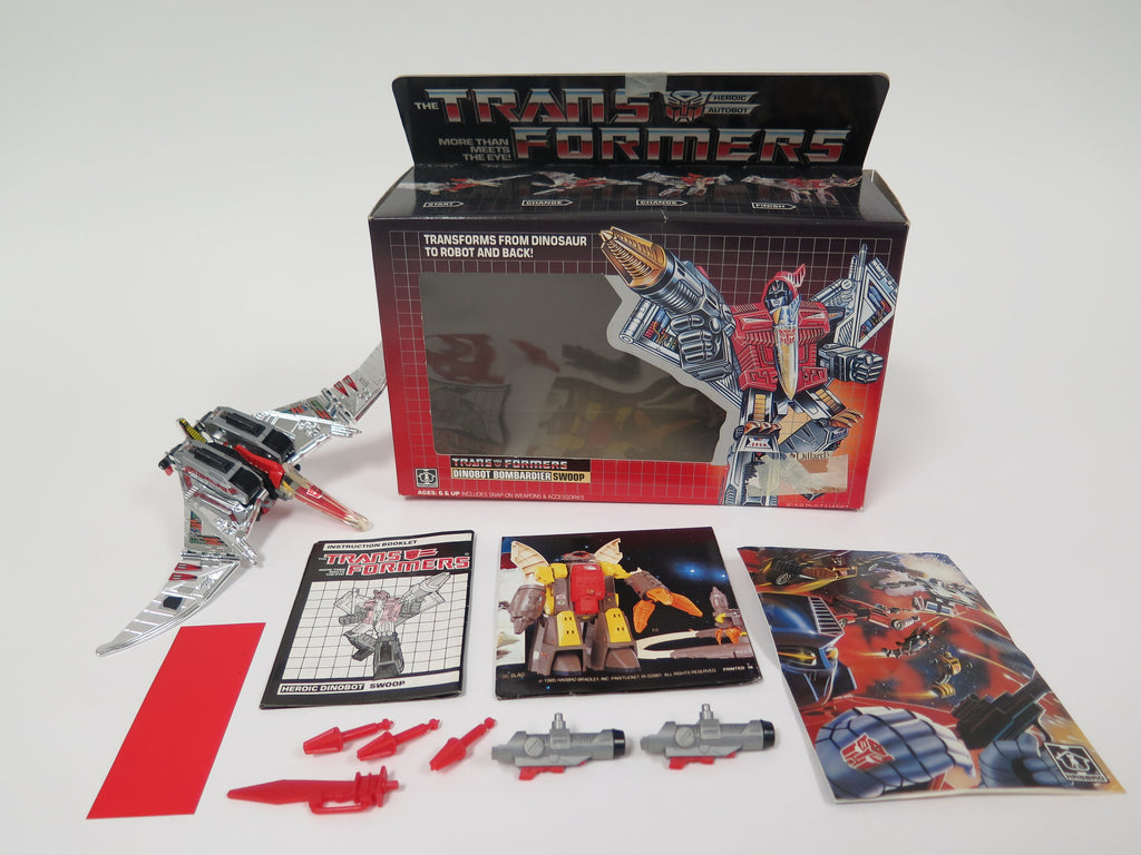 1985 Hasbro Transformers G1 Dinobot Swoop Complete In Box with Paperwork