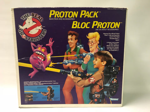 1986 Kenner The Real Ghostbusters Proton Pack Back Pack & Accessories (Canadian Version) In Box w/ Inserts