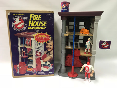 1986 Kenner The Real Ghostbusters Fire House Firehouse Headquarters Complete With Box