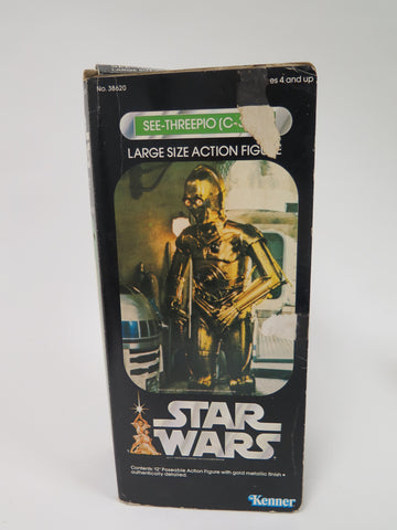 "1978 Kenner Star Wars 12"" Scale C-3PO See-Threepio Large Size Action Figure In Box"