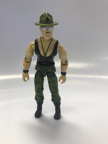 1986 Hasbro Gi Joe SGT. SLAUGHTER (v2) DRILL INSTRUCTOR ARAH Loose Not Complete