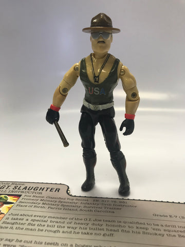 1985 Hasbro Gi Joe SGT. SLAUGHTER (v1) DRILL INSTRUCTOR ARAH Loose Complete