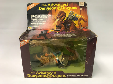 1983 LJN Advanced Dungeons & Dragons D&D Bronze Dragon In Box