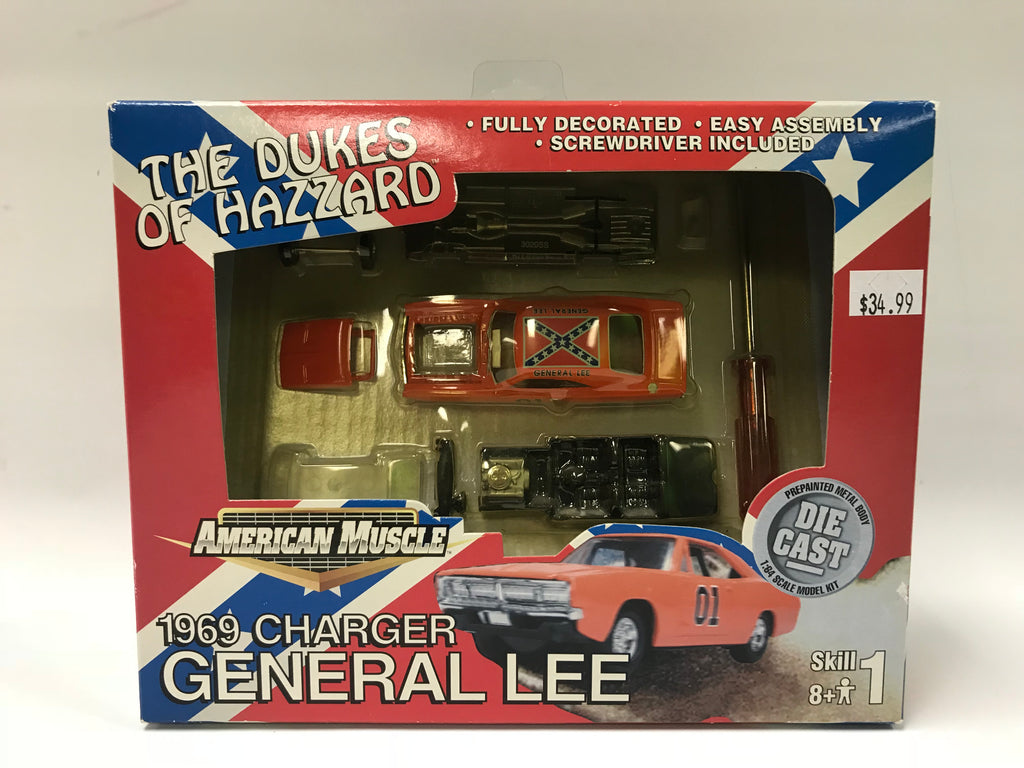 2000 Ertl Toys The Dukes of Hazzard Build Your Own General Lee 1:64 Scale Die-Cast Car American Muscle MOC Sealed