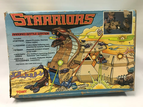 1984 Tomy Starriors Armored Battle Station Playset w/ Cobra & Scorpion In Box