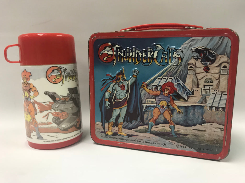 1985 Aladdin Thundercats Metal Lunchbox Lunch Box with Thermos