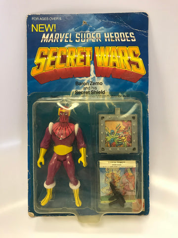 1984 Mattel Marvel Comics Secret Wars Baron Zemo MOC Sealed Unopened