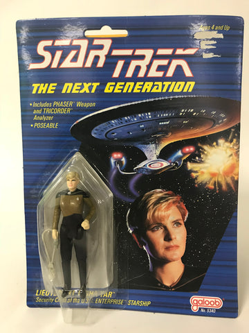 1988 Vintage Galoob Star Trek: The Next Generation TNG Tasha Yar 3.75