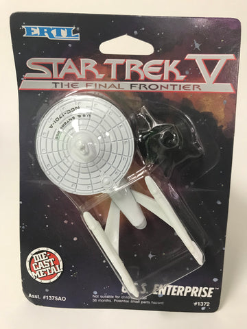 1989 ERTL Star Trek V 5: The Final Frontier U.S.S. Enterprise Die Cast Metal Ship MOC